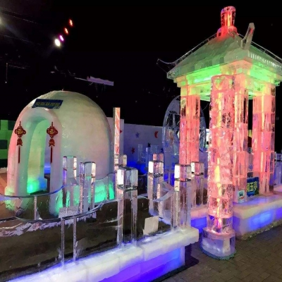 全国冰雕租赁 冰雕展出租 专业冰雕展搭建 哈尔滨冰雕师傅