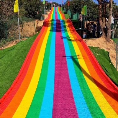 彩虹滑道策划设计公司 网红七彩滑道厂家定制制作 众暖熊彩虹滑道租售